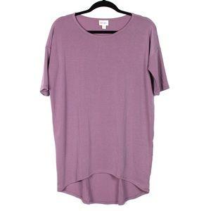 Lularoe XXS Solid Purple Irma Tunic Short Sleeve
